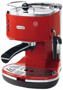 Delonghi Icona Eco Machines à Café, Rouge, 1100 W