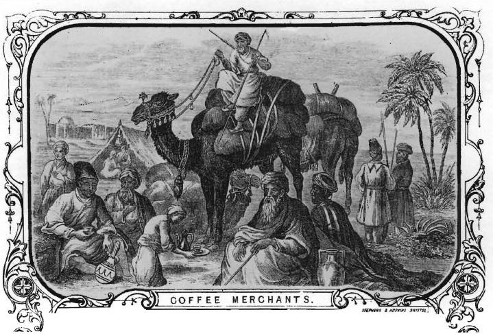 Les marchands arabes exerçaient un contrôle strict sur le commerce de Moka produit au Yémen.