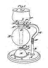 """Henry Task 1916 - """"Percolateur à café"""" avec poignée détachable"""