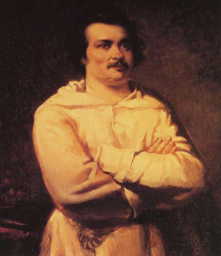 Honoré de Balzac, huile sur toile de Louis Boulanger (1806-1867).