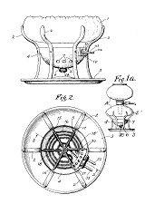 1934 - Dessin de brevet Silex pour un poêle électrique pour cafetière sous vide