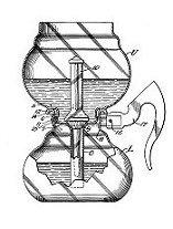 """1941 - Dessin de brevet pour l'aspirateur Cory """"sans caoutchouc"""""""