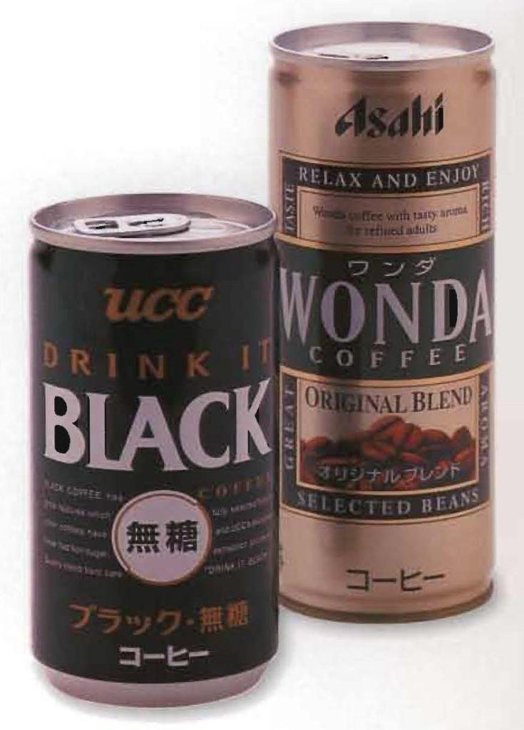 Canettes de café japonaises