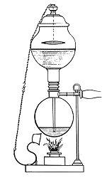 Le brevet de Fortant avec un auto-extincteur de flamme.