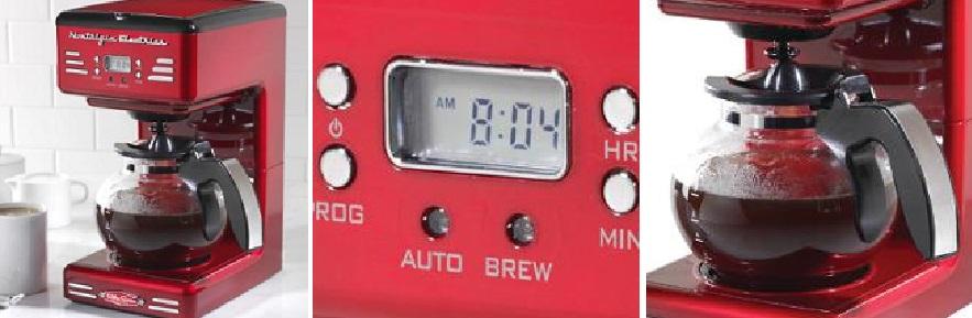Simeo FD300 autonome – Cafetière (autonome, Cafetière à Filtre, 1,2 l, 900 W, rouge)5