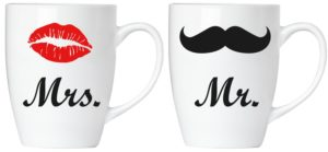 Coffret de 2 Mugs « Mr. & Mrs. » en Céramique